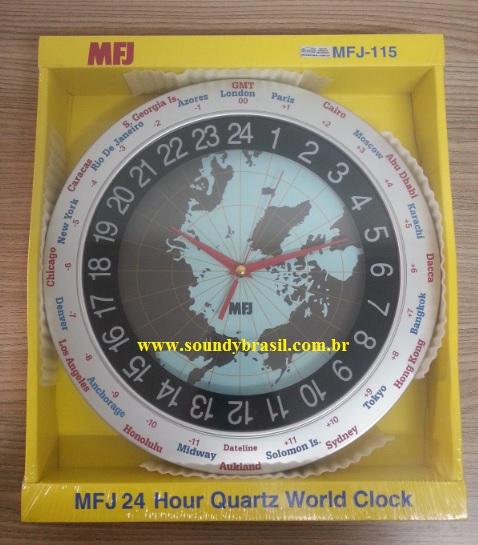 165136a5bc7 MFJ-115 Relógio de parede com mapa Mundi - Soundy Brasil ...